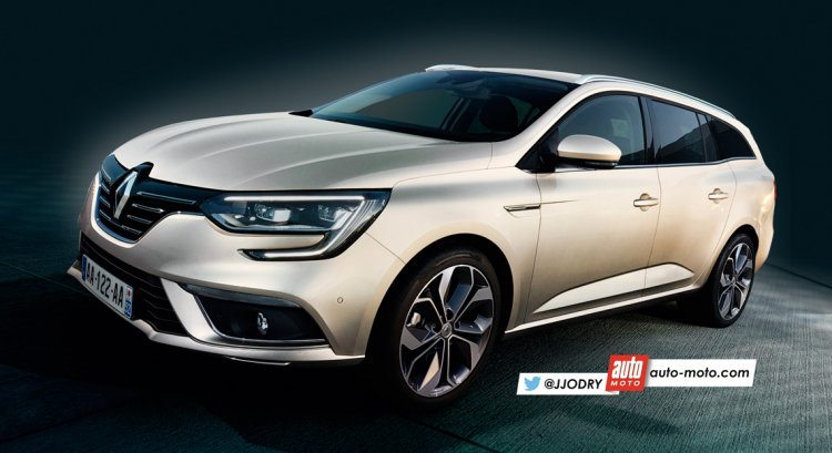 2016 Renault Megane estate rendering
