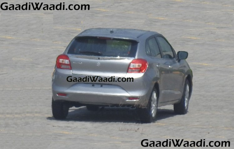 2016 Suzuki Baleno (Maruti YRA) rear quarter spotted in the wild