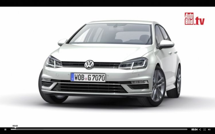 VW Golf 2016 front render from AutoBild