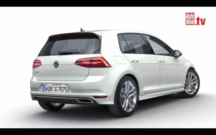 VW Golf 2016 rear render from AutoBild