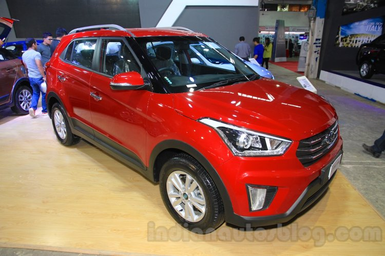 Hyundai Creta front three quarter right at Nepal Auto Show 2015