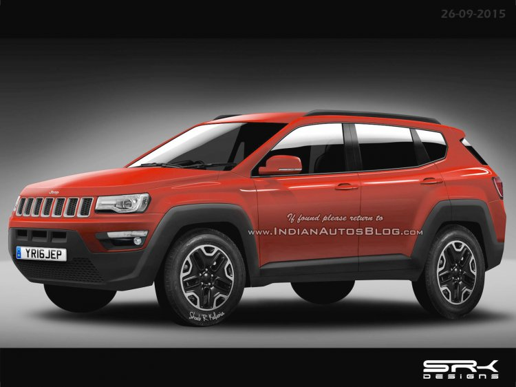 Jeep Compass:Patriot replacement (551) front thee quarter IAB Rendering