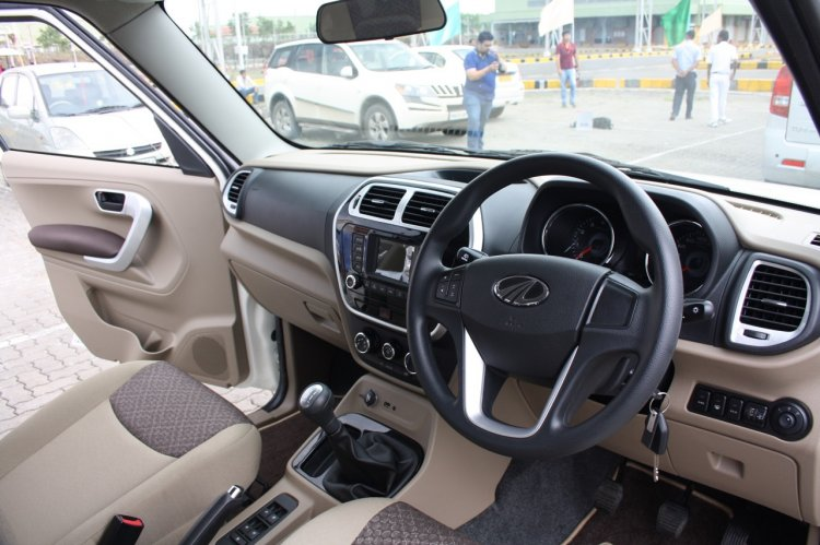 Mahindra TUV300 interior launched in India