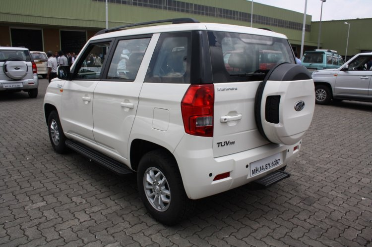 Mahindra TUV300 rear three quarter first drive review