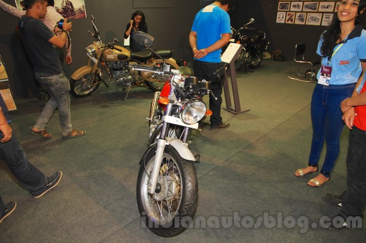 Royal Enfield Continental GT headlamp at Nepal Auto Show 2015