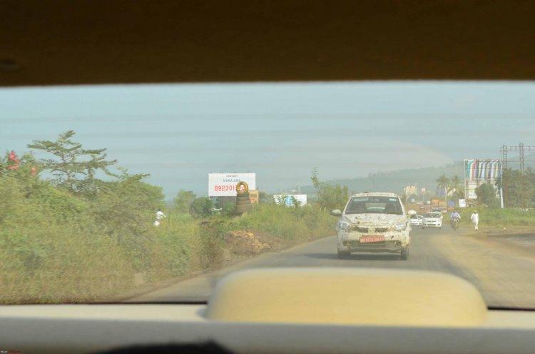 Tata Kite hatchback spied near Pune (September 2015) front