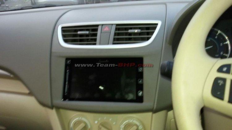2016 Maruti Ertiga touchscreen spied at a dealer stockyard