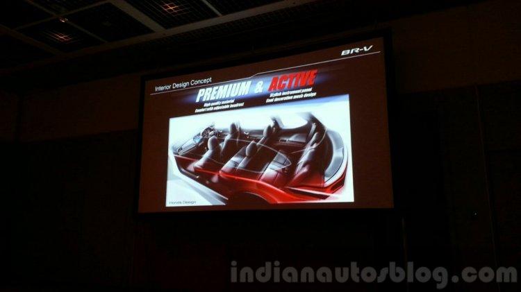 Honda BR-V presentation interior