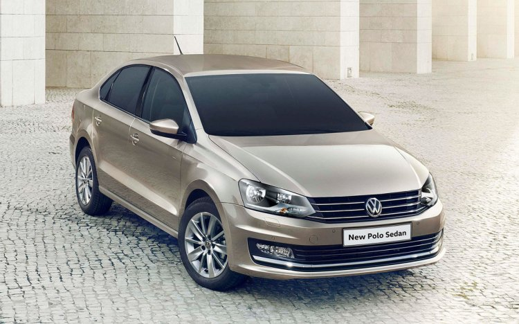 India-made VW Polo sedan front three quarter launched in South Africa