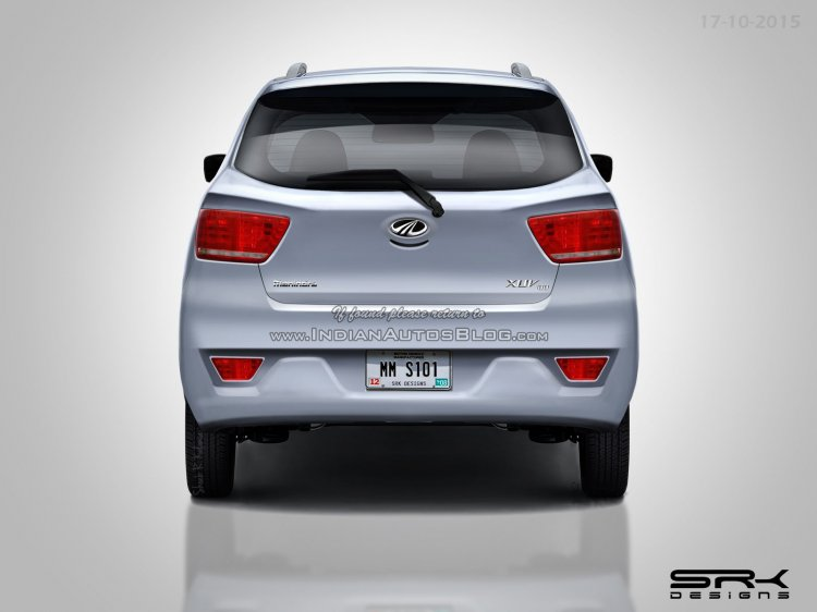 Mahindra XUV100 (S101) rear rendering