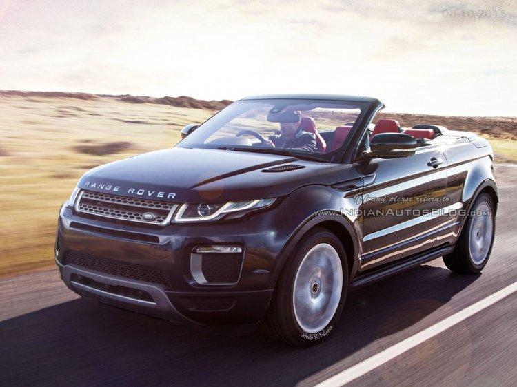 Range Rover Evoque Convertible front three quarter IAB Rendering