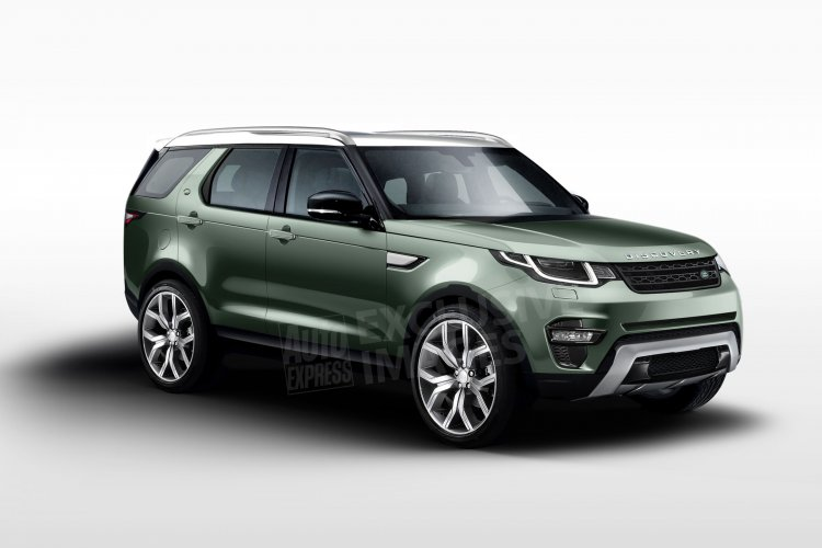 2017 Land Rover Discovery front three quarter rendering