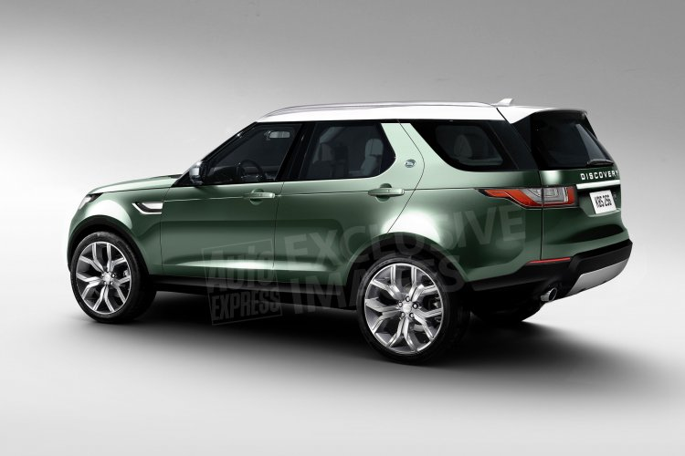 2017 Land Rover Discovery side rendering