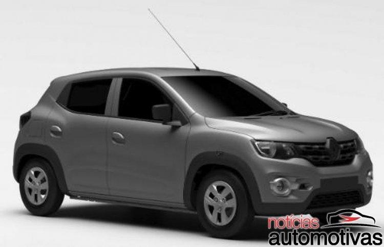 Brazil-spec Renault Kwid front three quarter patent images leak
