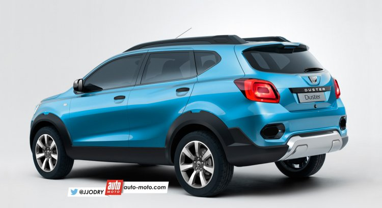 Dacia Duster rear quarter rendering based on Datsun GO-Cross concept