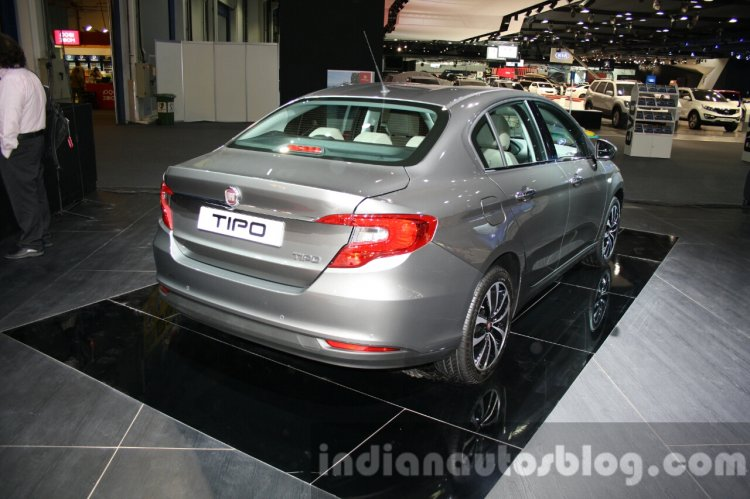 Fiat Tipo rear quarter at the 2015 Dubai Motor Show