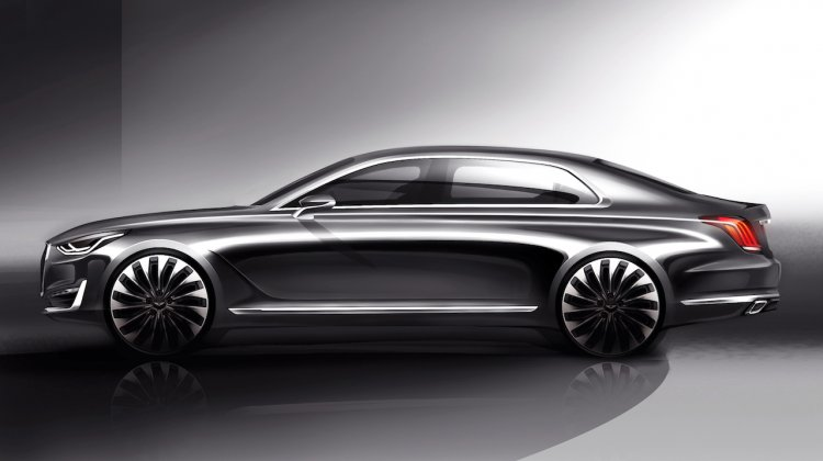Genesis G90 side near-production concept