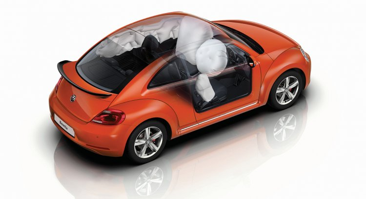 India-spec VW Beetle safety features side press image