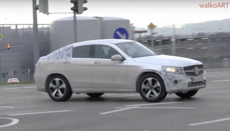 Mercedes GLC Coupe side spotted testing