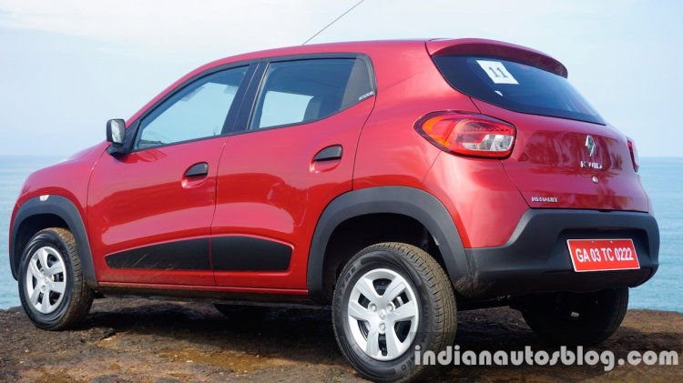 Renault Kwid rear three quarter review