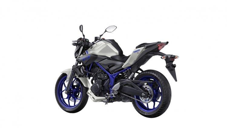 Yamaha MT-03 rear quarter unveiled at EICMA 2015