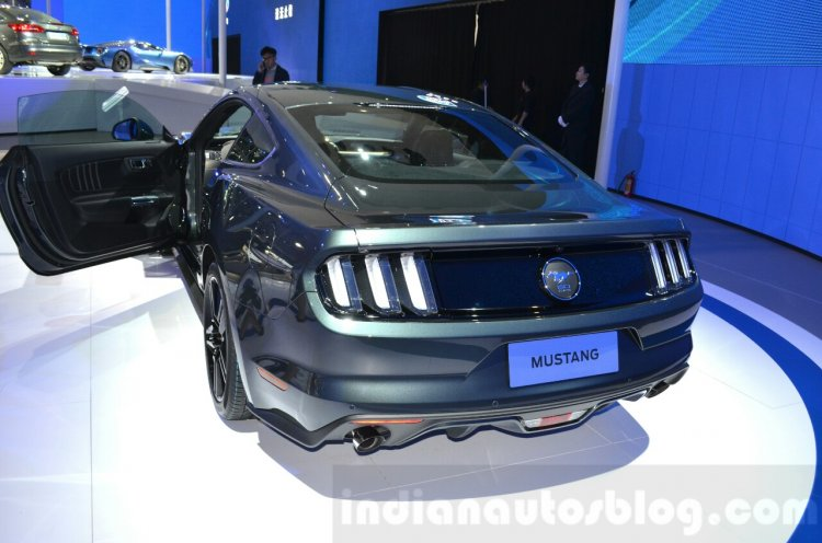 2016 Ford Mustang rear three quarters at 2015 Shanghai Auto Show