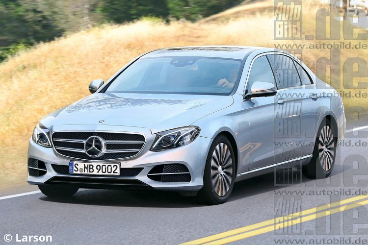 2016 Mercedes E Class front three quarter near-accurate render