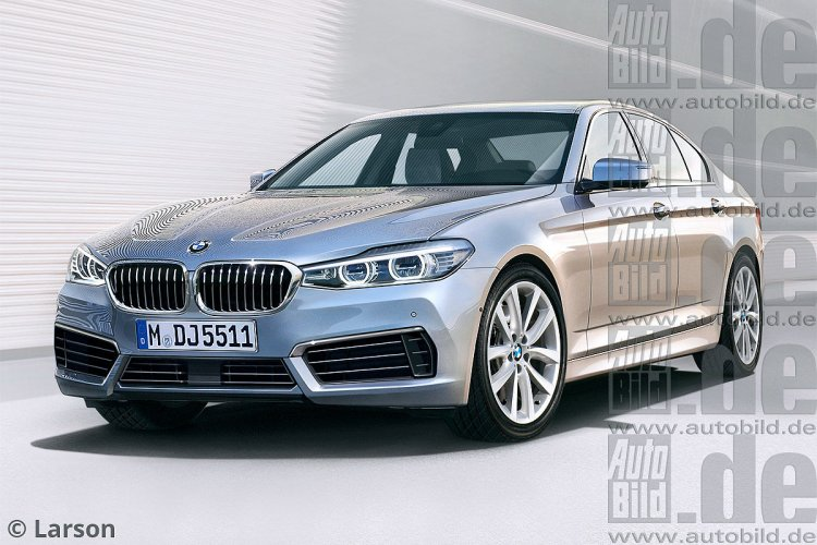 2017 BMW 5 Series front three quarter rendering
