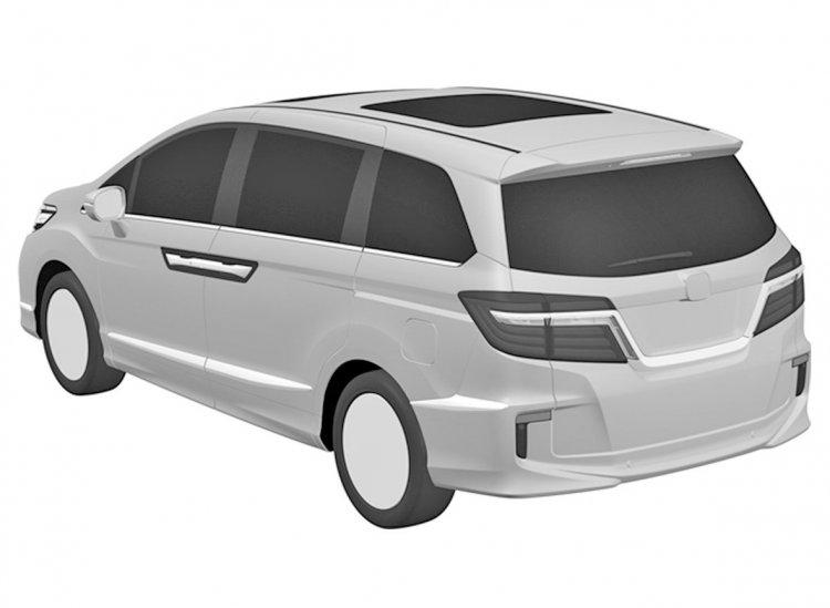 2017 Honda Odyssey rear three quarters patent image