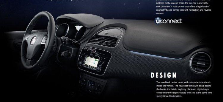 Fiat Linea Blackmotion interior