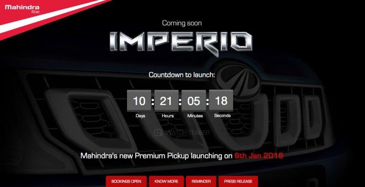 Mahindra Imperio launch countdown