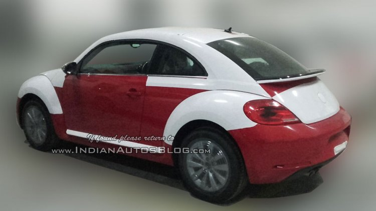 New VW Beetle rear at an Indian dealerships