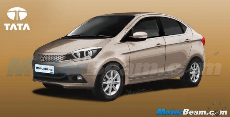 Tata Zica CS compact sedan rendering