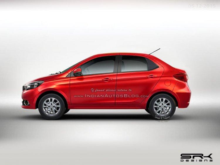 Tata Zica-based compact sedan IAB Rendering