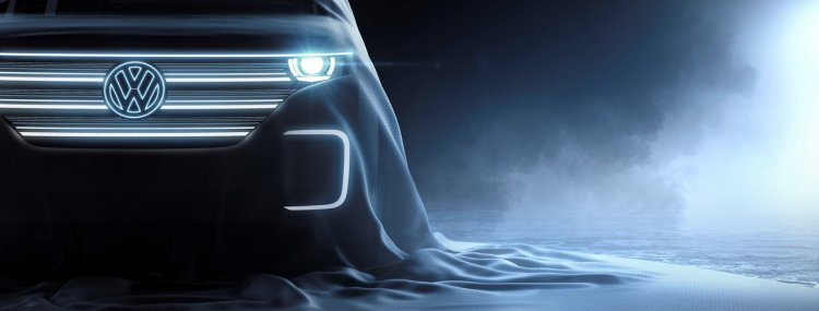 VW E-Bulli concept teaser 2016 CES