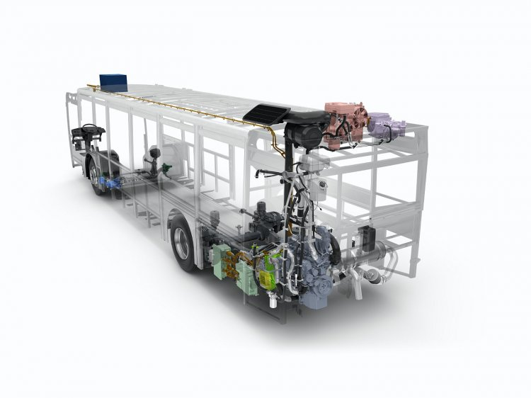 Volvo 7900 hybrid bus internal graphic official