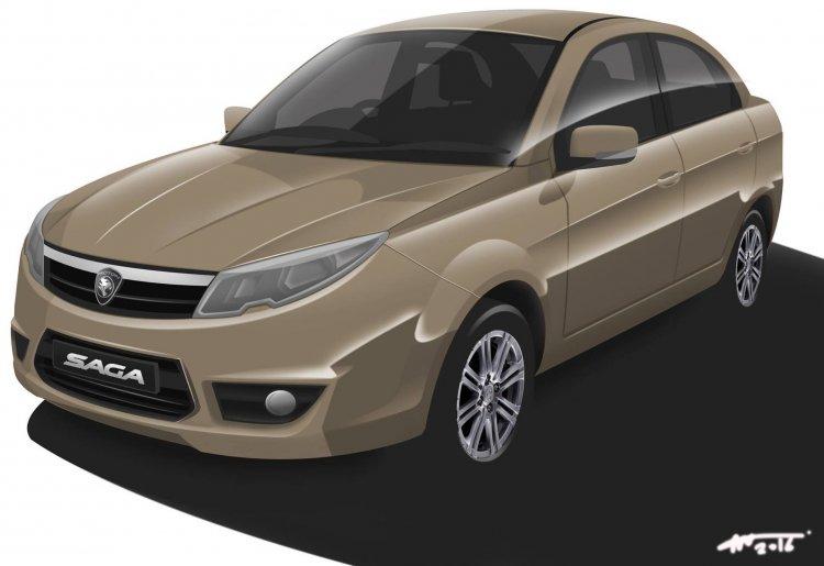 2016 Proton Saga front Rendering
