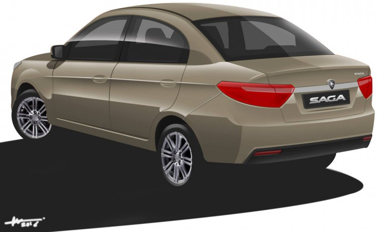 2016 Proton Saga rear Rendering