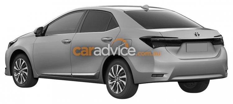 2016 Toyota Corolla facelift rear quarter leaked via patent images