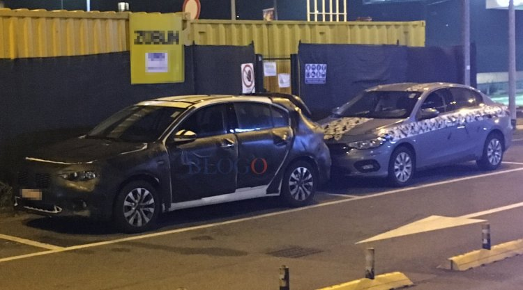 Fiat Tipo Hatchback front three quarters right side spy shot