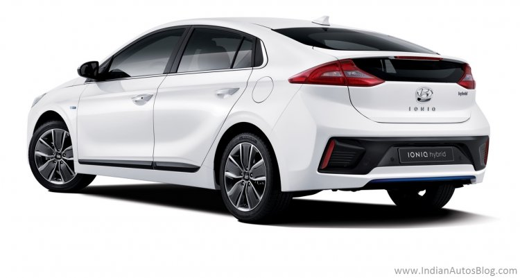 Hyundai Ioniq rear three quarters