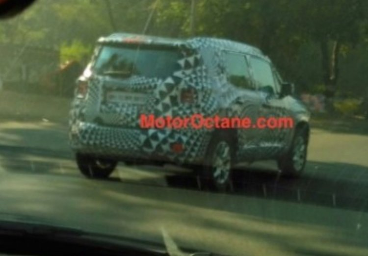 Jeep Renegade testing in India