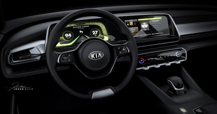 Kia Telluride concept interior dashboard driver side