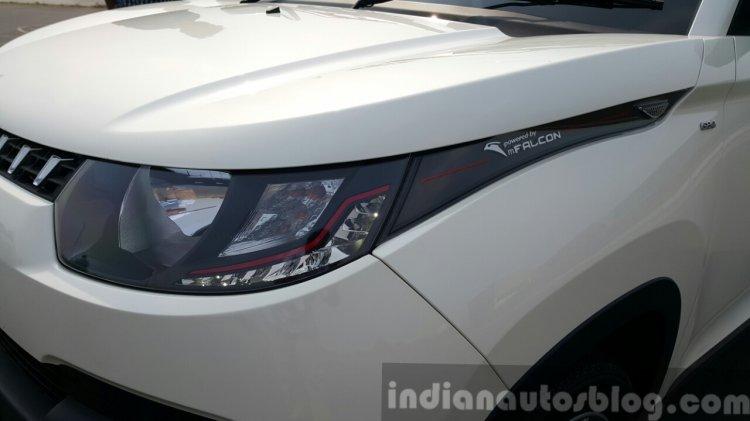 Mahindra KUV100 left headlamp first drive review