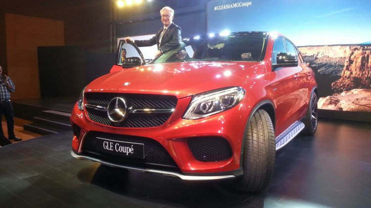 Mercedes GLE 450 AMG Coupe front launched in India