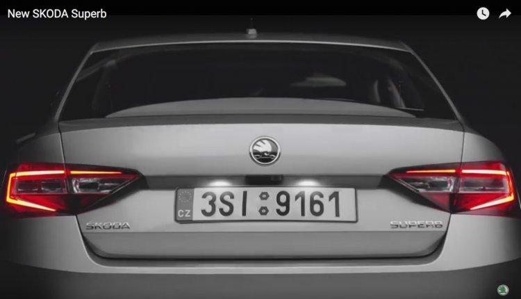 New Skoda Superb rear teaser for India