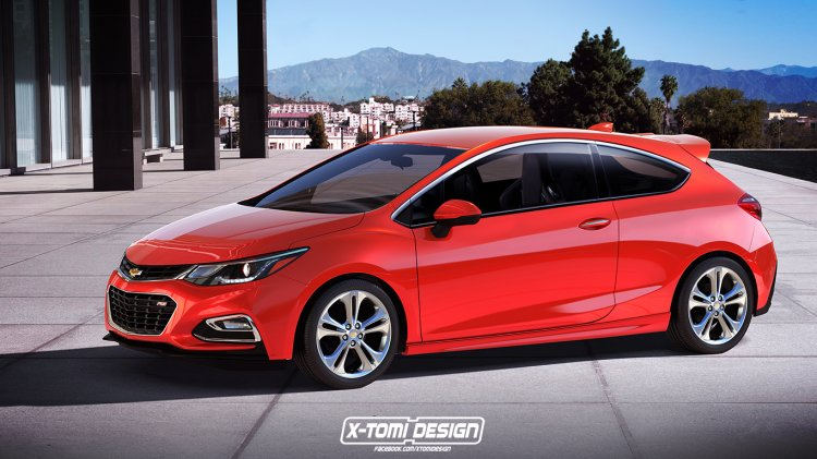 Second-gen Chevrolet Cruze Hatchback 3-door rendering