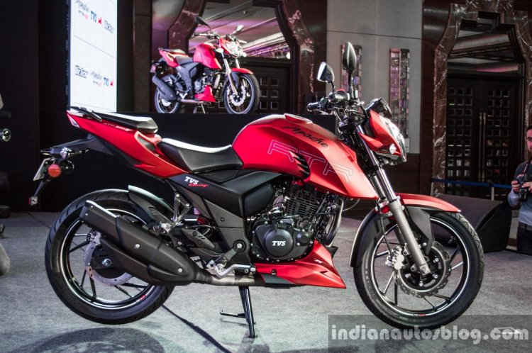 TVS Apache RTR 200 4V side launched
