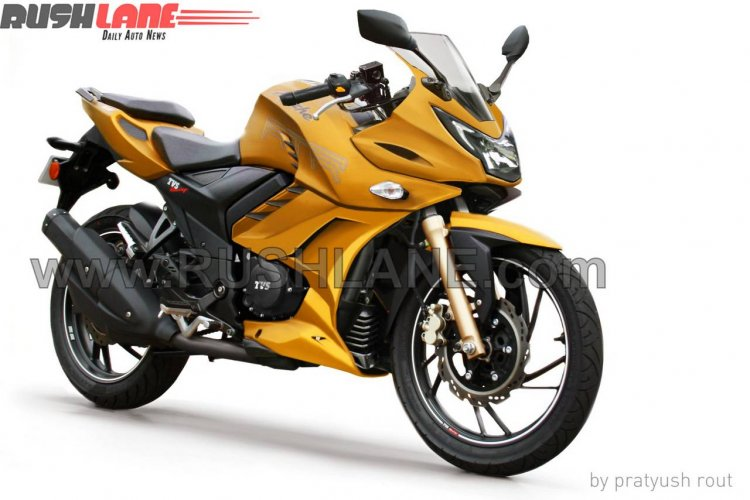 TVS Apache RTR 200 fully faired version rendering