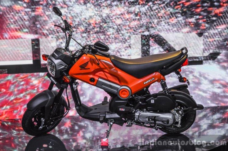 Honda Navi Sparky Orange side at Auto Expo 2016